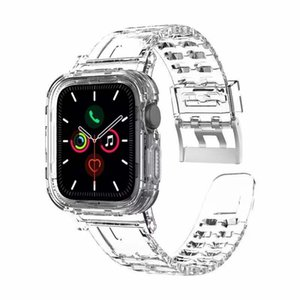 Band Case Rugged Silicon Protective Case With Strap Bands For Iwatch Series 1 2  3 4 38mm 40mm 42mm 44mm Snap-On Design With Package