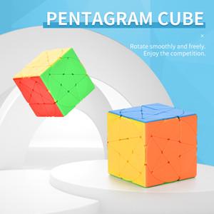 خمسة مدببة نجمة Rubik's Cube DIY Rubik's Cube Puzzle Pentagram Magic Cube تحدي TW2009168