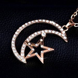 Engagement Bijoux strass Colliers Collier Collier Moon Star Amoureux