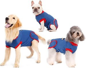 Recovery Suit for Dogs Cats After Surgery, Recovery Shirt for Male Female Dog Abdominal Wounds Bandages Cone E-Collar Alternative, Anti-Lick