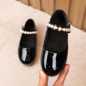 Kids Girls Shoes Patent Leather Shoes School Girls Dress Spring Autumn Wedding Party Shoe with Pearl For SP091