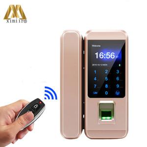 New Arrival Fingerprint Glass Door Lock XM-300A Remote Control,Card,Password,Fingerprint Door Lock Frameless Glass Door Lock