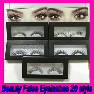 .20 Style Nouvelle boîte haut de gamme Faux cils fausses fausses cils à la main de faux cils volumineux faux cils pour la maquillage des cils oculaires
