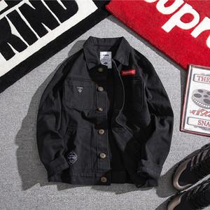 Вниз Jacket2020 Spring и Нового список Летней корейская версия Пары Harajuku Повседневная Denim Строчка куртка S-3XL Streetwear