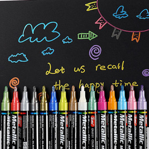 15 Colors Set 2mm Acrylic Paint Marker pen for Ceramic Rock Glass Porcelain Mug Wood Fabric Canvas Painting Detailed Marking 201102
