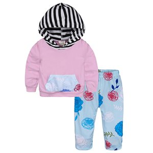 Newborn Toddler Infant Baby Girl Clothes Floral Hooded Outfits Baby Girls Sports Suit for Infant Clothing Outfits