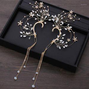 Wedding Bride Ear Hang Hook Holeless Earrings Drop Earrings for Women Non Pierced Dangle Earring Party Dance Jewelry Accessories1
