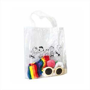 Women Cartoon Transparent Handbags INS Popular Female Cute Shopping Bags Cartoon Printing Travel Tote Fashion Clear Bolsa SS3614