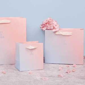 10pcs Small Gift Bags with Handles Gradient Gift Bag Birthday Weddings Christmas Graduation Baby Shower Party Favors bags