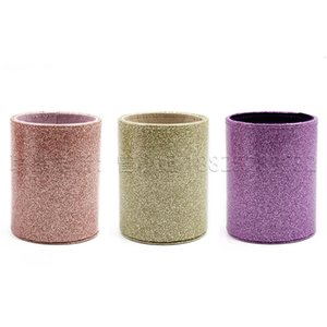 Glittering Pink Leather Screen Hotel Ktv Entertainment Game Throw Cup Makeup Brush Box Pen Holder MYKC