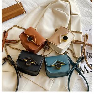 kids Mini bag INS Girls messenger bag Fashion Children PU metal single shoulder bag