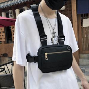 Paquete deportivo Hombres Paquete táctico Unisex Color sólido Hip Hop Run Bag Travel Phone Bolsa Masculina Cintura Bolsas Chaleco Mochila Q1221