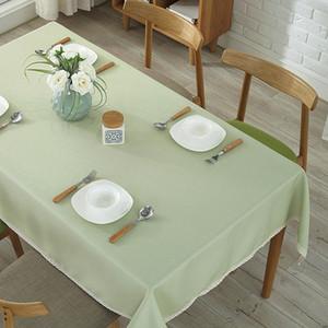 Espesarse Moderno Mesa de mesa Restaurante Tela Lino Partido Mantel Mesa Mesa Mesa Fiesta Evento Banquete Decoración Corredor Mesa Personalizada VTKY2285