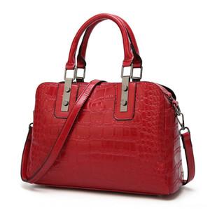 riJIy Yeni El kadın moda timsah desen omuz haberci çantası kabuk çanta banliyö için elden Bowler f31ox