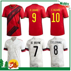 2020 Bélgica Inicio Alejado Lukaku Peligro Kompany de Bruyne Mertens Soccer Jersey 2021 Hombre adulto y kit para niños Camisa de fútbol deportivo