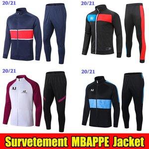 2020 2021 MBappe Futbol Ceket Survetement Eğitim Suit 20 21 Eşofman Sportwear Çocuk Ceket Rüzgarlık Fermuar Verratti Jogging Setleri