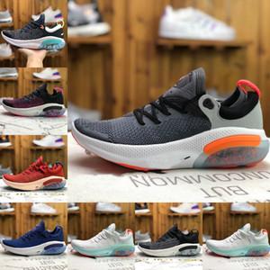 2019 Cheap Joyride Run FK Platinum Tint Black White JOY RUN Knit Homens PASSEIO Running Shoes Racer Azul Cor Universidade calçado desportivo correspondentes