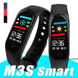 سوار الذكية لXIAOMI للياقة البدنية المقتفي M3S Smartband مع معدل ضربات القلب المقتفي لالروبوت الهواتف المحمولة 115 ID في صندوق البيع بالتجزئة