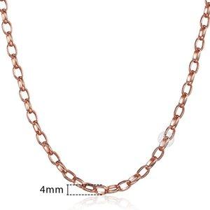 Uomo Donna Rosa Gnn1 45 centimetri Per Lumaca doni collana in oro 585 donne 60 centimetri di collegamento Chain Jewelry 50 centimetri Curb sqcSFT home003