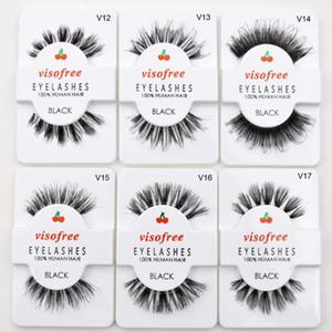 False Lashes Handmade Eyes Lashes Natural False Eyelashes 100% Human Hair Vegan Cilios Eyelashes Maquiagem Makeup Profissional
