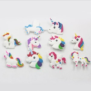 New Creative Different PVC Unicorn Shapes Brooch Animals Pins Lovely Gift Home Party Decor Free Shipping