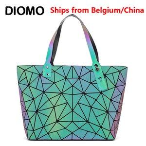 Diomo Mode Reflektierende Tote Geldbörsen und Luxus Handtaschen Frauen Taschen Designer Geometrische Umhängetasche Q1110