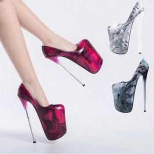 Zapatos calientes zapatos bombas drag reina cd super alto tacón 22 cm stilettos plataforma impermeable modelo t show show femenino zapatos de boda # S197
