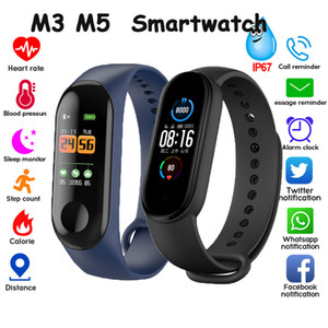 Electronic Smart Watch Women Men Unisex Cardio Monitor Fitness Tracker SmartWatch per Android Phone M3 M5 Orologi per Xiaomi