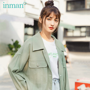 INMAN Summer New Arrival Lapel Single-breast Leisure Fashion Loose Personality Coat 201020