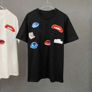 2021 Nuevo Llegada Hombres Mujeres Camiseta con la letra impresa Moda para hombre T SHIRTS Casual Streetwear Womens Tees 2 Colores