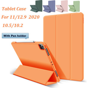 실리콘 태블릿 케이스 아이 패드 (12) (9) (11) 2020 Ipad에 10 2 10 5 자기 스마트 커버 폴리오 케이스에 대한 iPad 용 연필 홀더와 12.9 프로