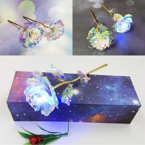 Luminous Foil Plated Rose 24k Flashing Light Foil Plated Rose Wedding Day Valentine S Day Gifts Lover Led Rose