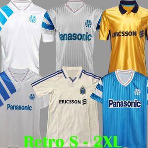 Vintage 1990 1991 1992 1993 1998 1999 2000 Retro Maillot Olympique de Marseille Jersey Cantona Waddle Pelrsey Cantona Waddle Pelé Kit