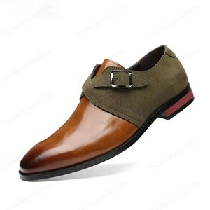 Elegante Schuhe Herren Classic Black Dress Monk Strap Schuhe für Männer Fashion italienischen Kleid plus Größe Mens-Kleid-Schuhe Schuhe