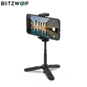 Blitzwolf BS0 Mini Selfie Sopa Tripod Masaüstü Çoklu Açılı Telefon Tutucu Taşınabilir Selfie Monopod Selfie Cihazı Telefon Kamera Için LJ200916