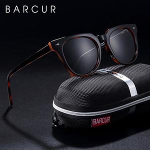 BARCUR originales TR90 gafas de sol polarizadas para Hombres Mujeres Cuadratura Sol vidrios transparentes Oculos luneta de soleil femme 1006