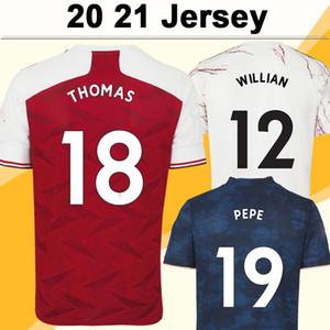 20 21 Tierney Saka Willian Home Away 3ème Mens Soccer Jerseys Maitland-Niles Thomas Pepe Manches courtes Chemise de football pour jeunes Uniformes adultes