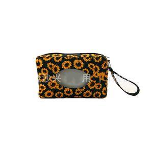 Bambini Caso di tessuto Neoprene Traverse Wet Wipes Box Stili Sunflower Leopard Stampa Stili di Snowflake Stili di carta Borsa da asciugamani per Appeso Parete Durevole 8 5SX E1