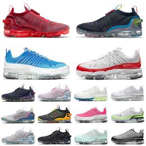 vapormax max 2020 knitfly 2021 أفضل تخفيضات أحذية الجري المنسوجة FK Pure Platinum Grey Black Trainers تنفس عميق أزرق ملكي للرجال أحذية رياضية رياضية للعدائين
