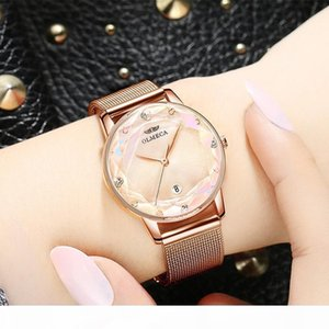 Luxury Crystal Ladies Dress Watches Brand Designer Watch Women Rose Gold Quartz Wrist Watch Female Mesh Steel Waterproof Clock