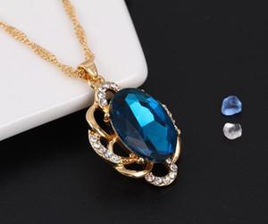 Joyería de dama cristalino del collar de Austria y joyería de los pendientes de las mujeres conjunto conjuntos joyería del partido