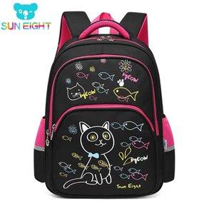 SUN HUIT Belle Cat New Arrival School Girl Sacs à dos école pour les petites filles Sac d'école Sacs d'enfants 3-4 année c1019
