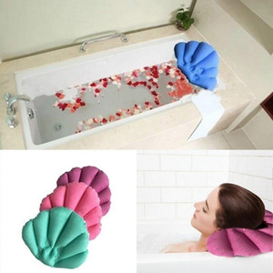 2019 Free Shipping Soft Bathroom Pillow Home Comfortable Spa Inflatable Bath Cups Shell Shaped Neck Bathtub Cushion Bathroom Accessories Lx6