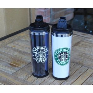 2021 Starbucks 14oz 420ml Stainless Steel Mug Flexible Cups Coffee Tumblers Travelling Mugs Tea Wine KIU878