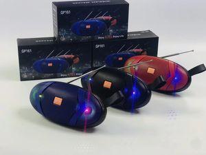 GP161 Super Bass 10W Bluetooth Lautsprecher Hifi Subwoofer bewegliche Säule Stereo Soundbox mit TF-Karte USB-Slot Aux für Computer-Telefon