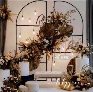 2pcs Wedding background screen Wedding wrought iron flower stand rectangle