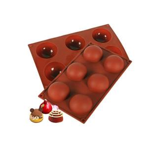 2 قطع الساخنة الشوكولاته قنبلة العفن، سيليكون نصف الكرة العفن المجال diy الخبز القالب لصنع قنبلة الشوكولاته الساخنة، كعكة، هلام، قبة موس