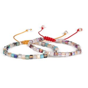 dankaishi Mode-Glaskristall Perlen Armbänder Seil Entfernung Armband Femme für kleine Mädchen-Frauen-Geschenk Handgemachte Wrap Schmuck