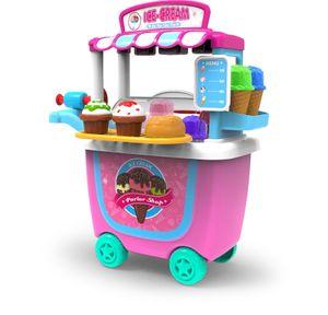 Моделирование игрушки Дети Кухня Посуда Барбекю Набор косметики Доктор Супермаркет Инструменты Ice Cream Play House Toys Корзина Simulation тележка