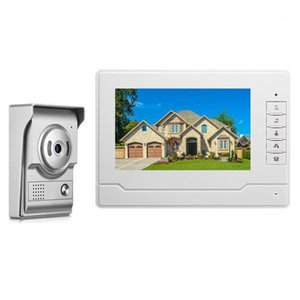 7 '' TFT LCD Wired Video Door Phone Video Video Video Intercom Downomphone Intercom System с водонепроницаемым открытым ИК-камерой1